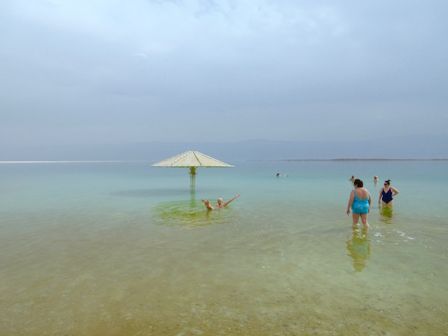 The water at Herods Dead Sea Spa Hotel