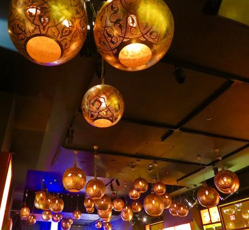 Copper light fixtures Mr Jones Bar