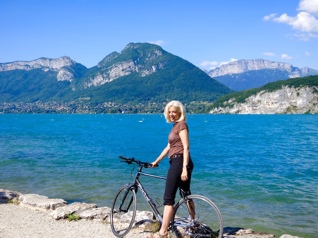 Cycling one day in Annecy France
