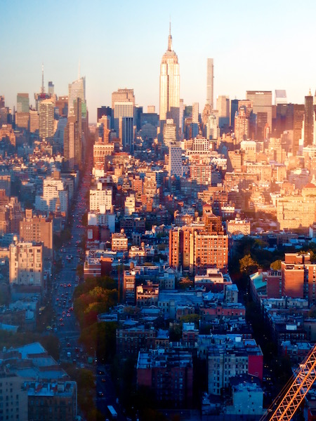 NYC skyline view from Trump Soho New York