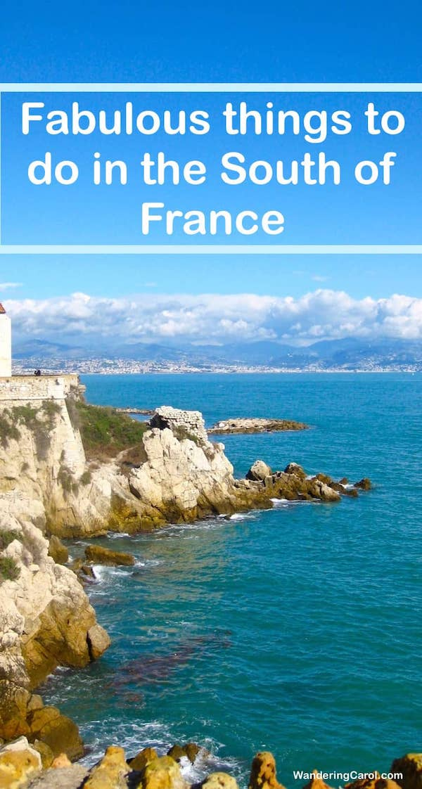 Coast of the South of France with cliffs and sea
