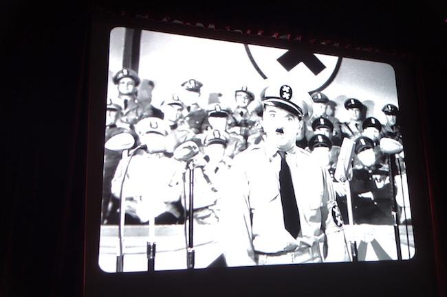 Chaplin as Hitler at Chaplin's World Vevey