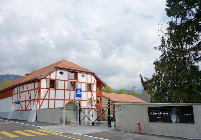 Chaplins World entrance and restaurant