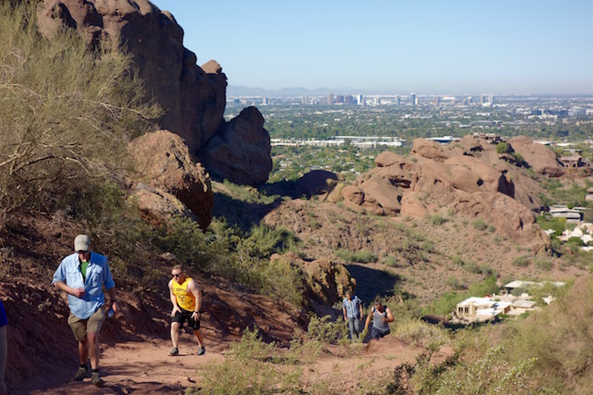 Hiking Camelback Mountain, Scottsdale Arizona, USA