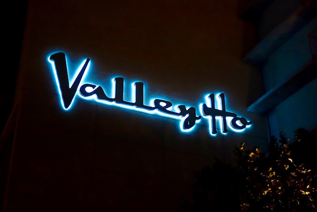 Valley Ho Hotel at night
