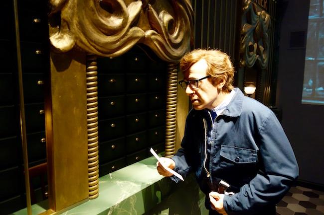 Woody Allen wax figure Chaplin's World museum