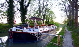 Canal du Midi cruise on the Athos hotel barge
