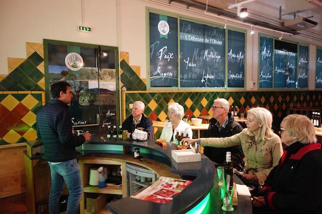 Canal du Midi cruise olive oil tasting