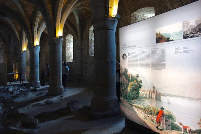 Castle of Chillon, Switzerland, prison