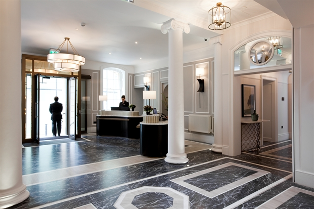 5-star hotels in Bath, UK, Gainsborough Bath spa hotel lobby