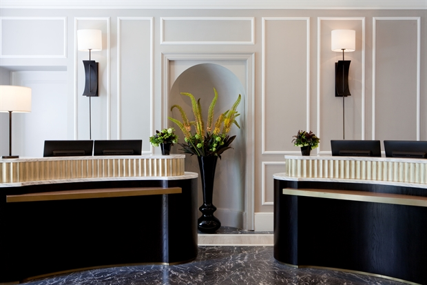 Front desk Gainsborough Spa hotel in Bath UK