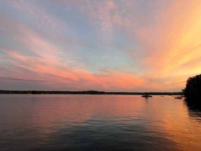 Viamede Resort Ontario Stoney Lake Sunset