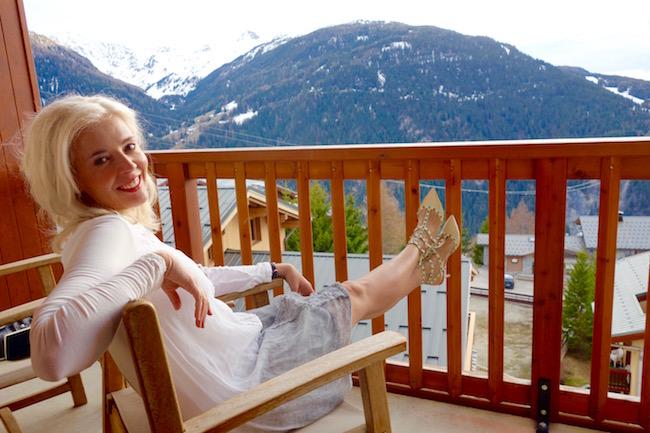 Wandering Carol Skiing in the Alps