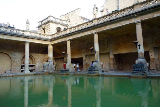Visiting the Roman Baths in Bath, England