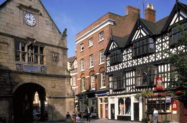 Most haunted place in England, Shrewsbury Shropshire street scene
