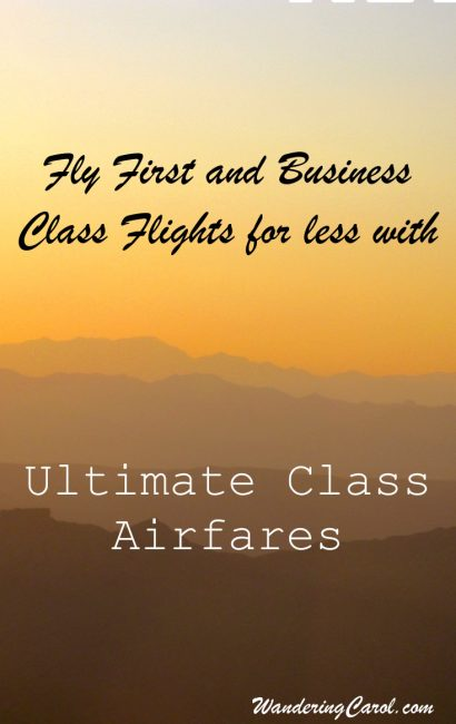Ultimate Class Airfares discount first and business class flights