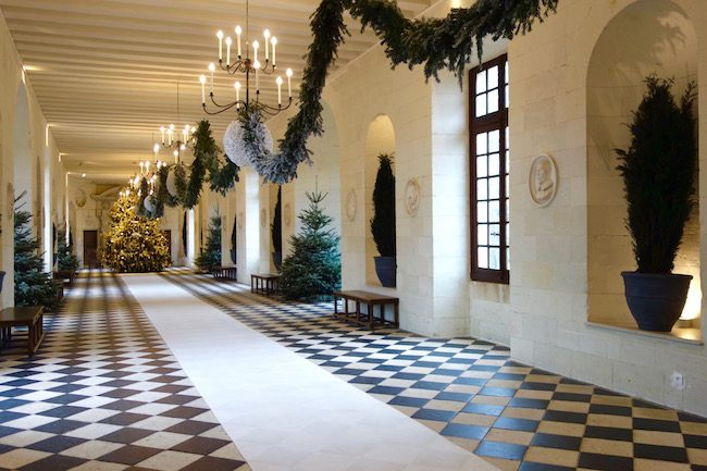 Chateau de Chenonceau Loire Valley at Christmas