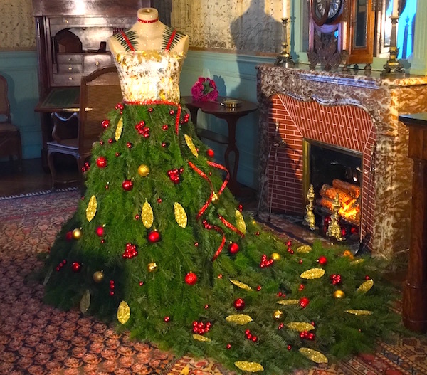Christmas tree dress at Chateau de Cheverny Loire Valley