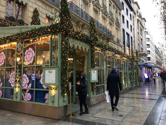 Laduree Champs-Elysee romantic Paris at Christmas