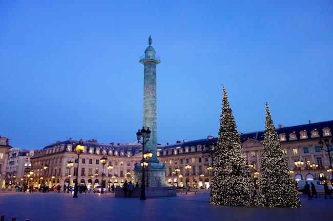 Romantic Paris at Christmas