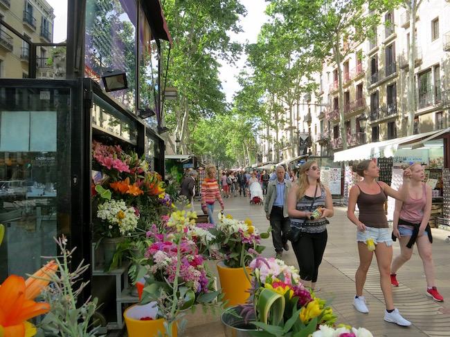 Ramblas in Barcelona