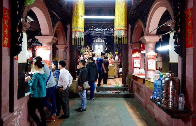 Entrance to Jade Emperor Pagoda Ho Chi Minh