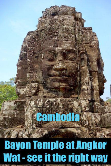 Visiting Bayon Temple, Angkor Thom, in Siem Reap, Cambodia, is a highlight of any Angkor Wat tour. Just make sure to see it the right way.
