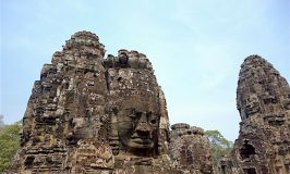 Mystical places Bayon Temple at Angkor Thom