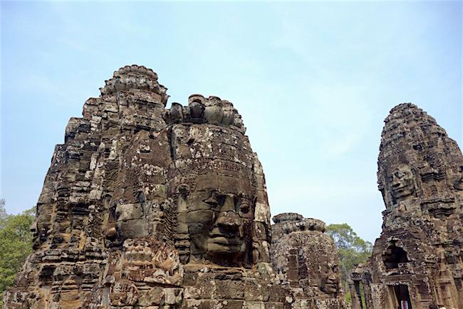 Mystical places Bayon Temple at Angkor Thom