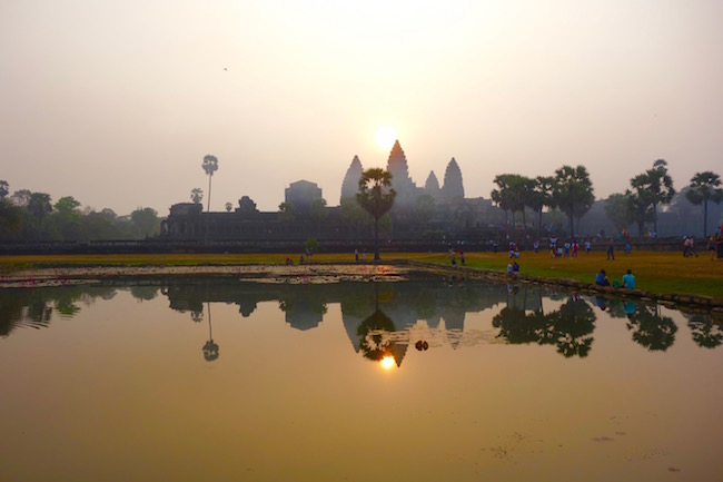 Best place to see the Angkor Wat Sunrise in Cambodia