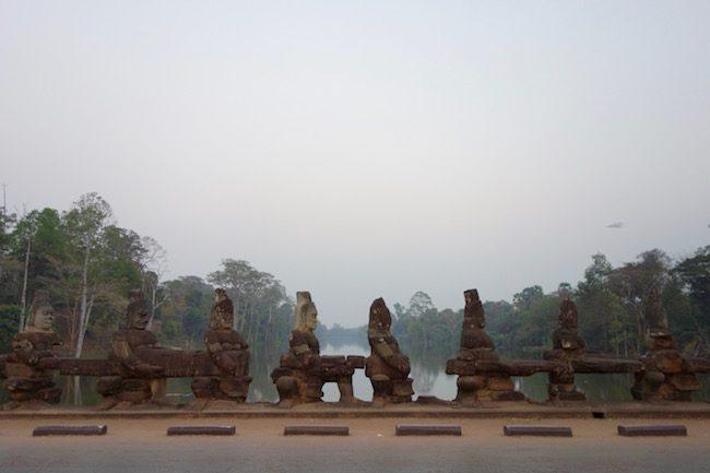 Churning the Ocean of Milk causeway Angkor Thom