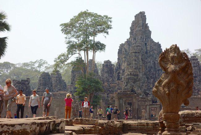 Entrance Bayon Temple Angkor Wat