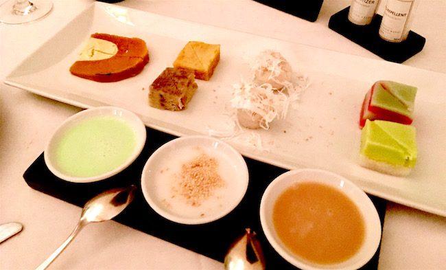 Khmer food, desserts at the Park Hyatt Siem Reap