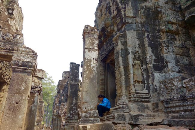 Visiting the Face Temple of Bayon at Angkor