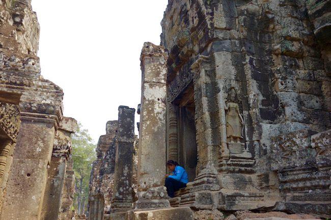 Visiting the Face Temple of Bayon at Angkor