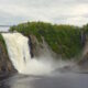 Montmorency Falls stairs and waterfall