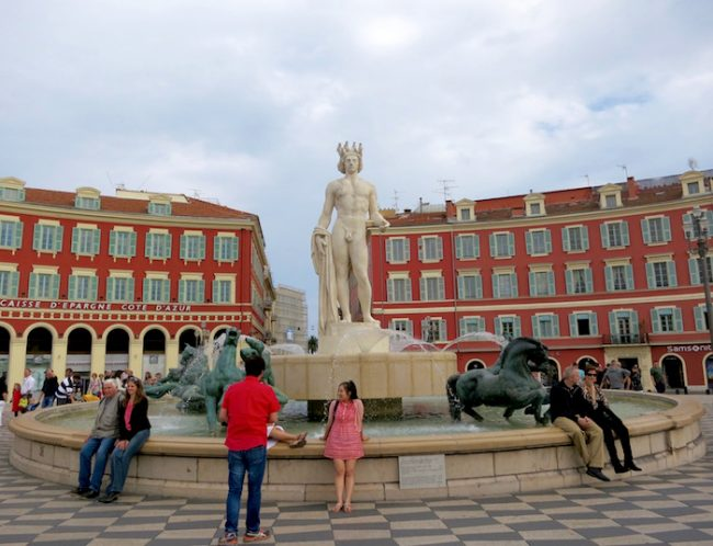Place Massena Nice, statue of Apollo