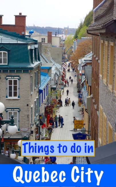 Here's a list of the top things to do in Quebec City, Canada - a helpful mini travel guide that will make your Quebec trip complete.