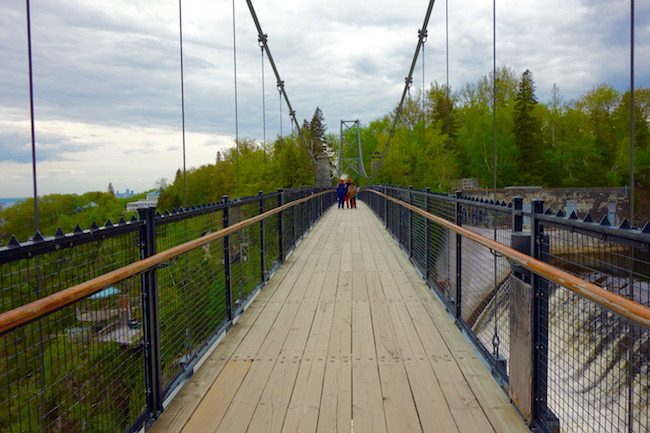 Suspension Bridge Montmorency Falls