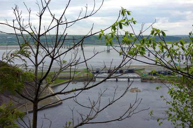 View St Lawrence from Montmorency Falls