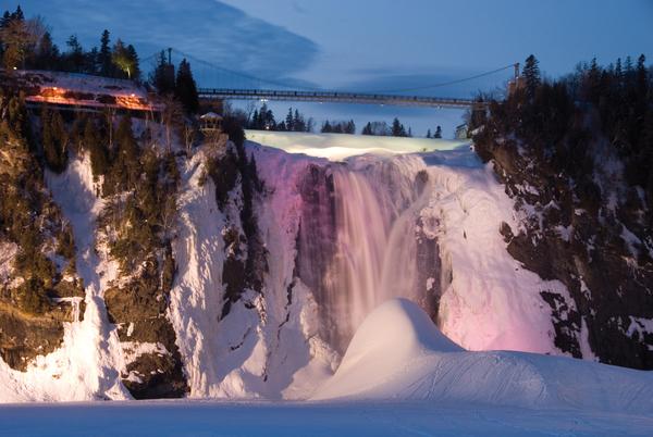 Parc de la Chute-Montmorency winter