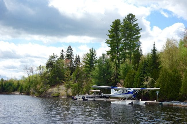 Seaplane in Mauricie Quebec