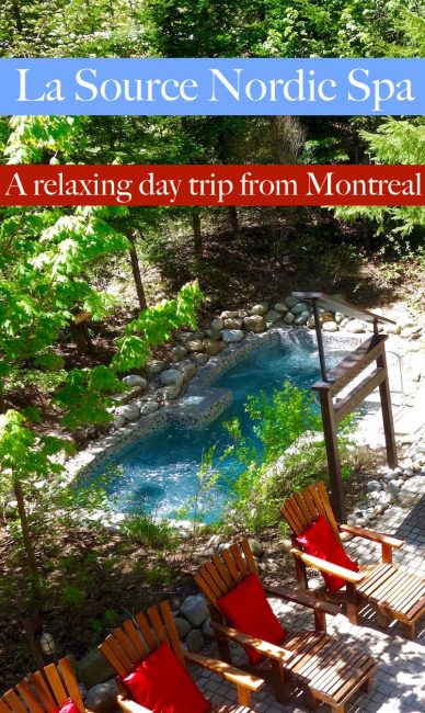 Spa La Source, near Rawdon, Quebec, makes a great day trip from Montreal. This outdoor nordic baths and spa is the ultimate way to relax.