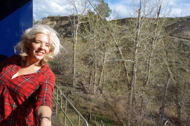 Wandering Carol on Rocky Mountaineer