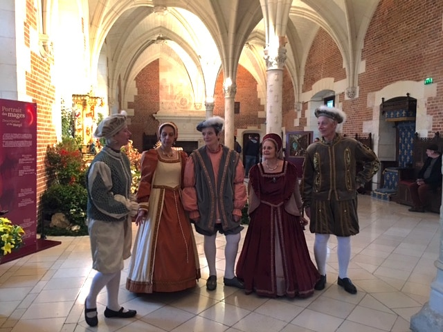 Renaissance dancers at Chateau Amboise