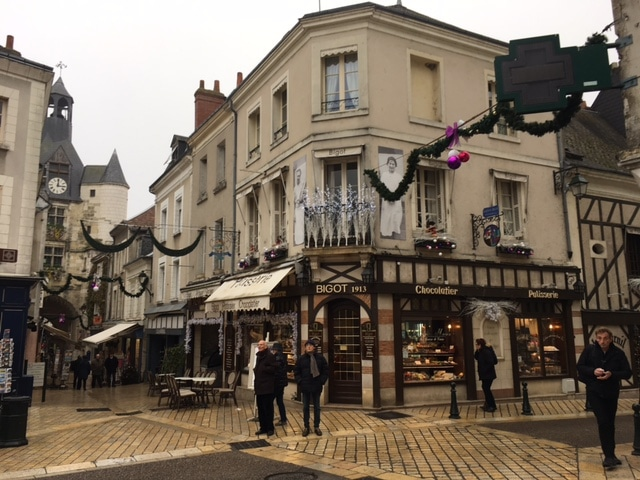 Visiting town of Amboise, France