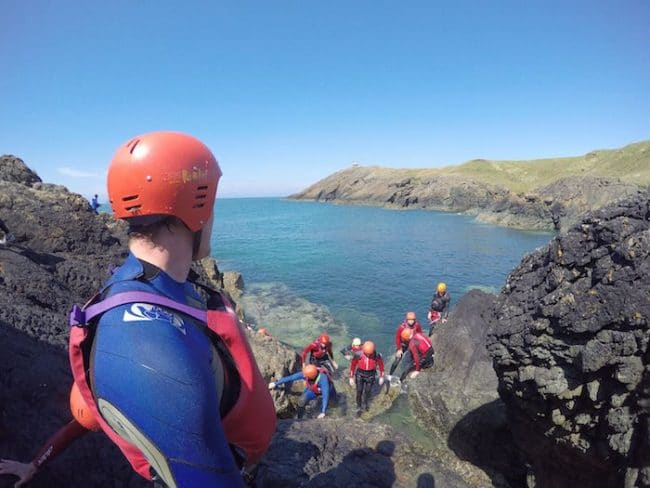 Coasteering in Snowdonia