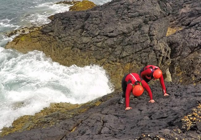 Coasteering, outdoor adventure Wales
