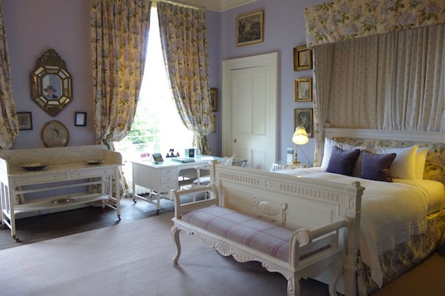 Mauve Room at Castle Leslie