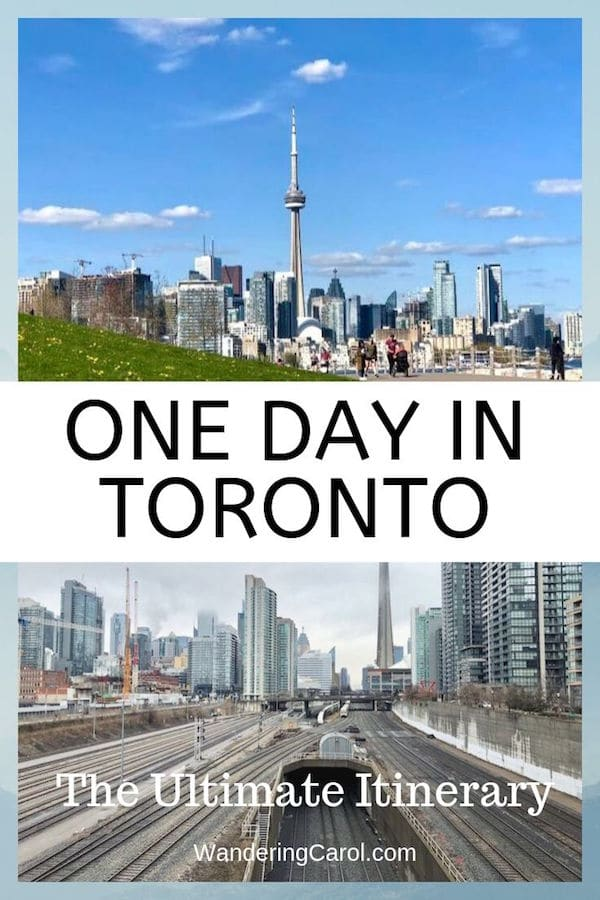 Here\'s a great one day in Toronto itinerary. It\'s a lot to fit in, but you can pick and choose your favourite Toronto attractions. Things to do in Toronto include visiting the CN Tower, Casa Loma, Harbourfront and many other points of interest in Ontario\'s largest city. #Toronto #Ontario #travel #attractions #itinerary #yyz